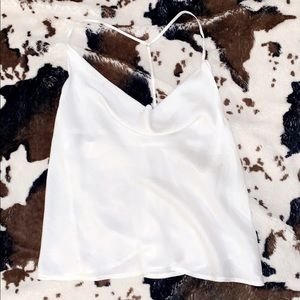 Vestique white silky top